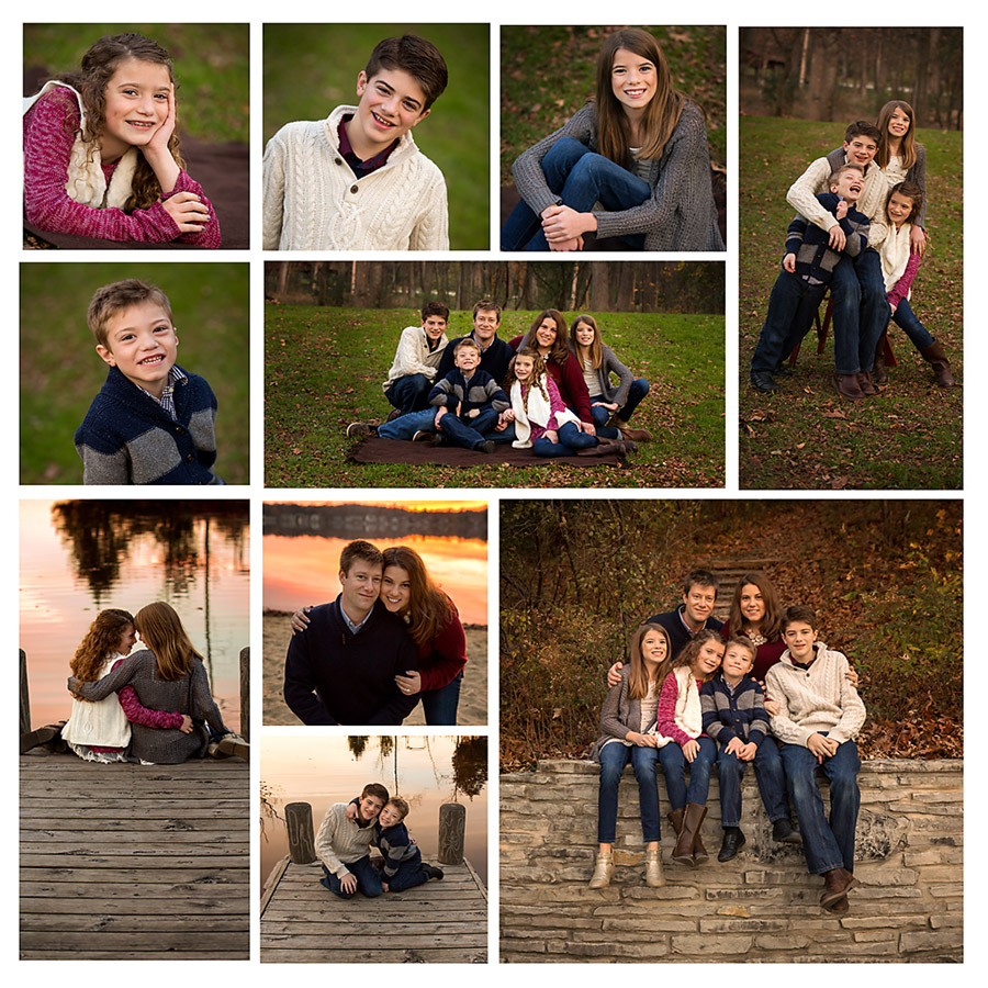 Delafield Oconomowoc family photographer storyboard canvas