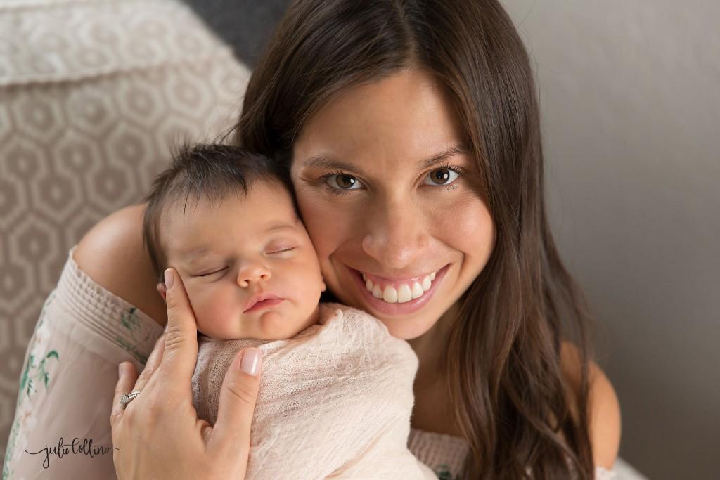 Mom shot pose newborn photographer Wisconsin