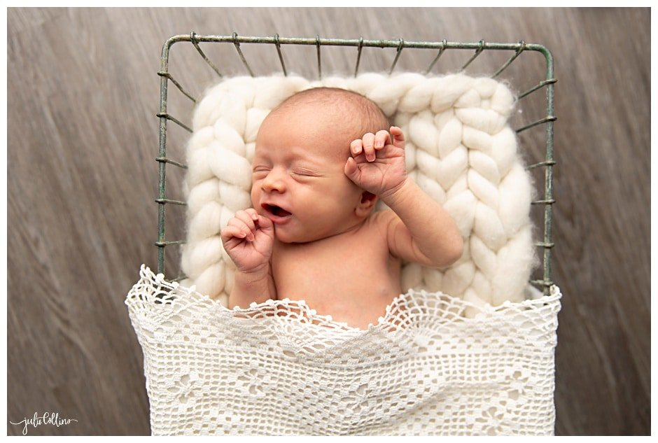 Newborn Baby Unintentionally Born at Home | Julie Collins Photography