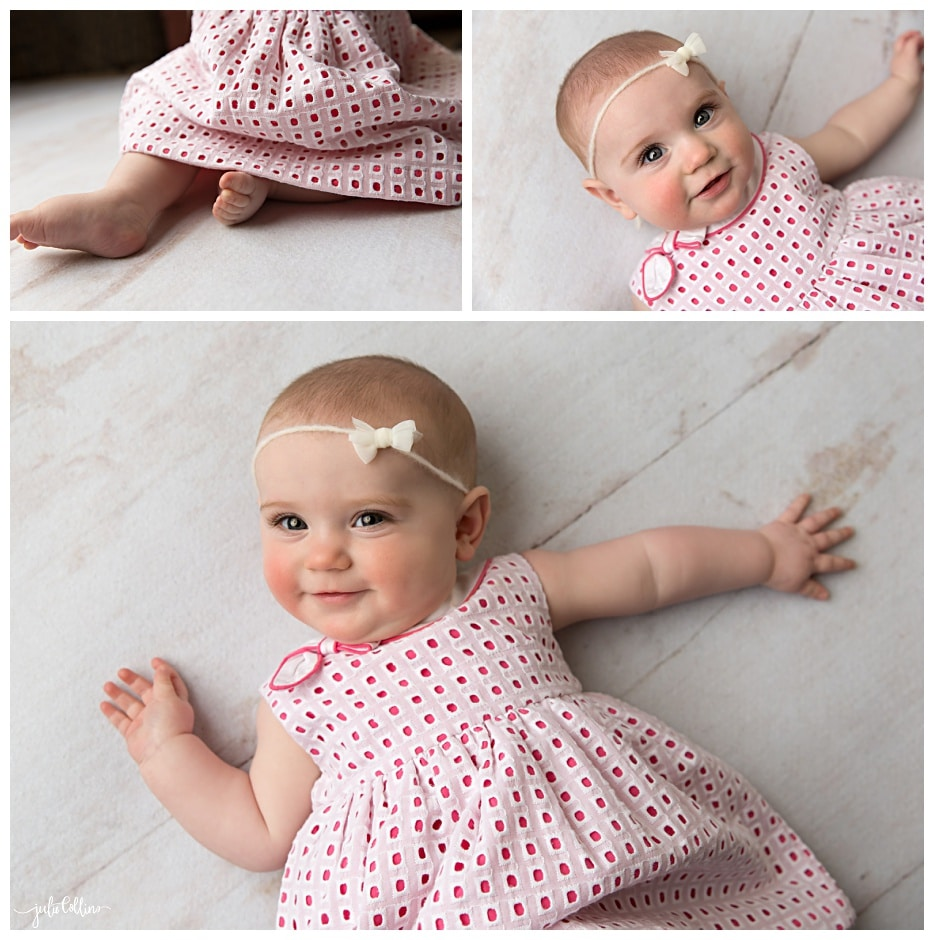 Picture of six month old girl milestone portraits