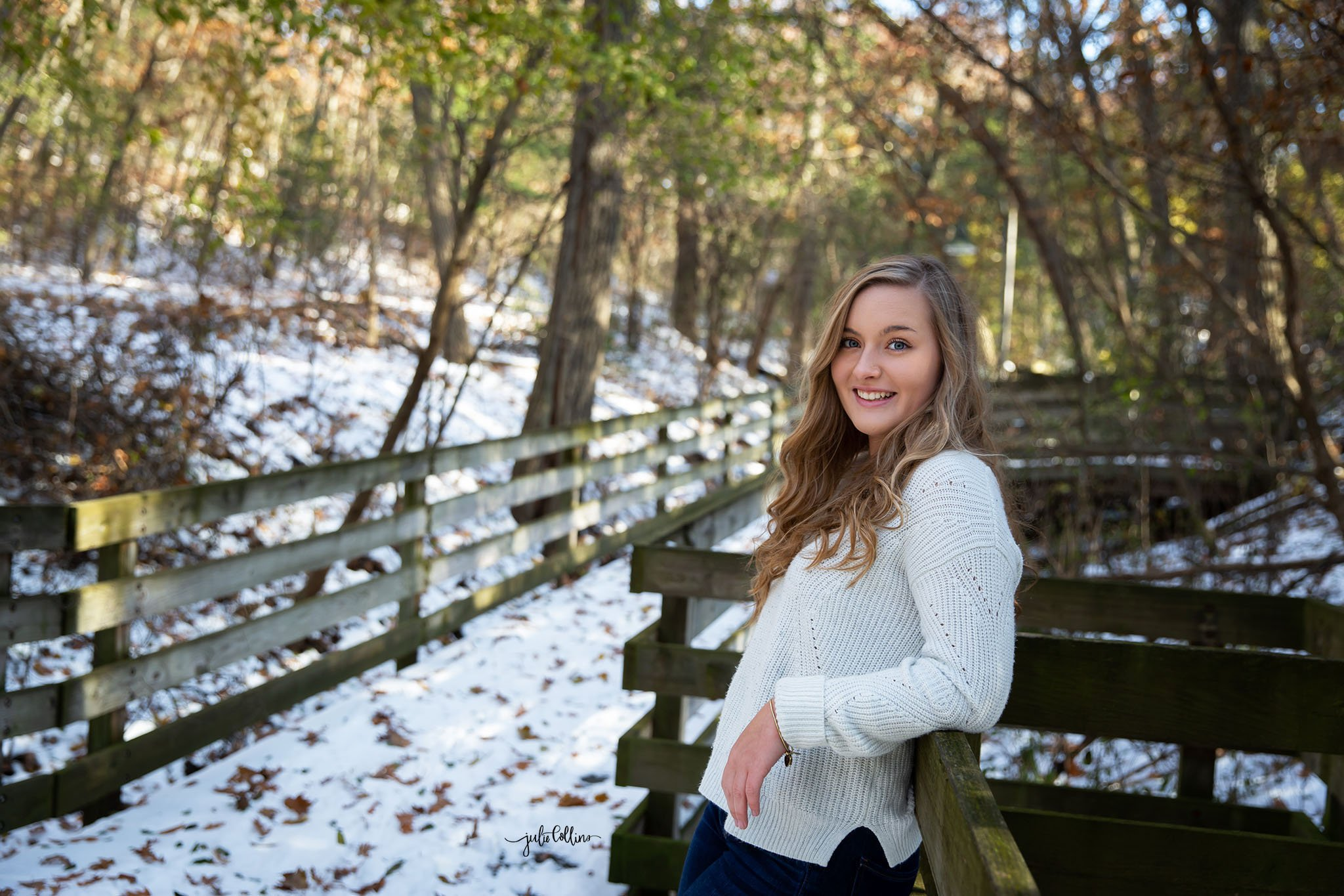High School Senior smiling for camera in Lake Country, Wisconsin