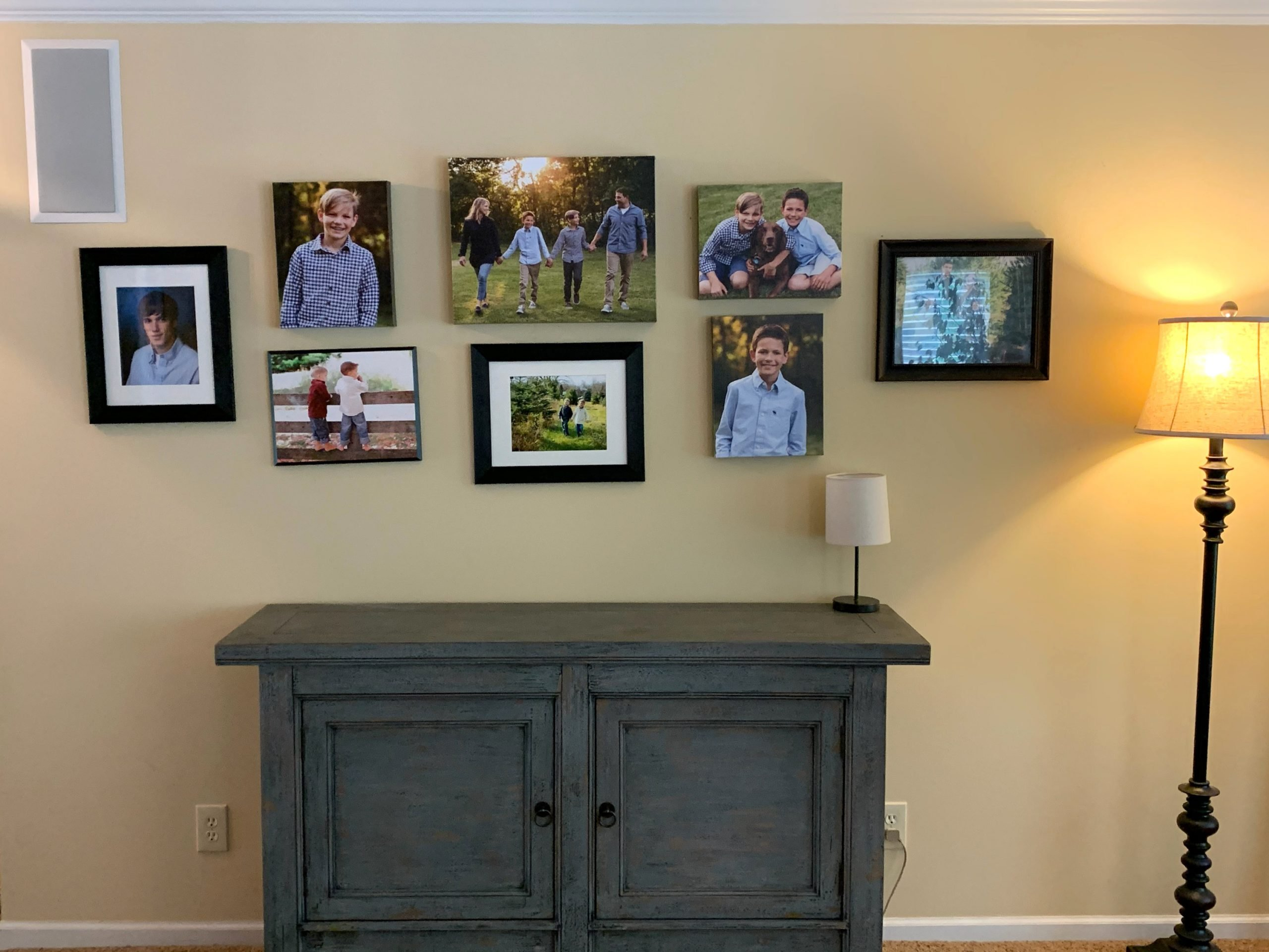 family photography used for a gallery wall