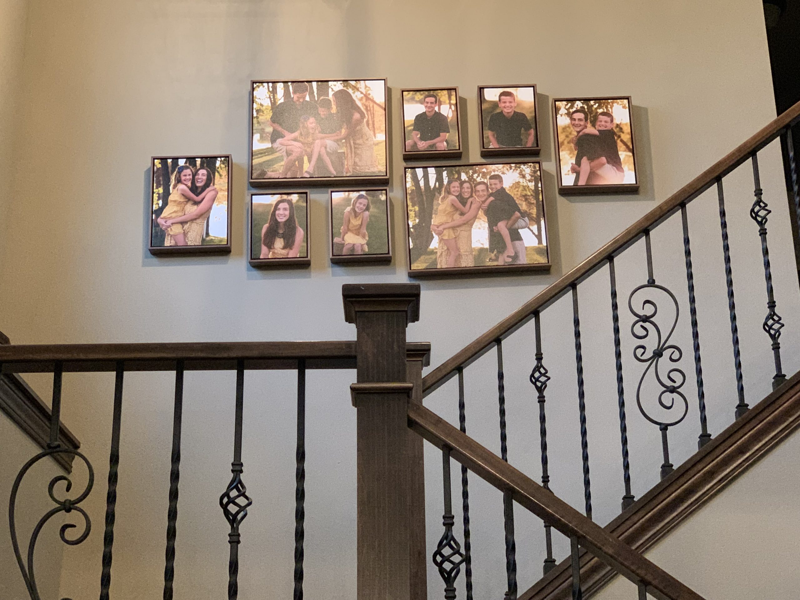 family photos used for a canvas gallery wall