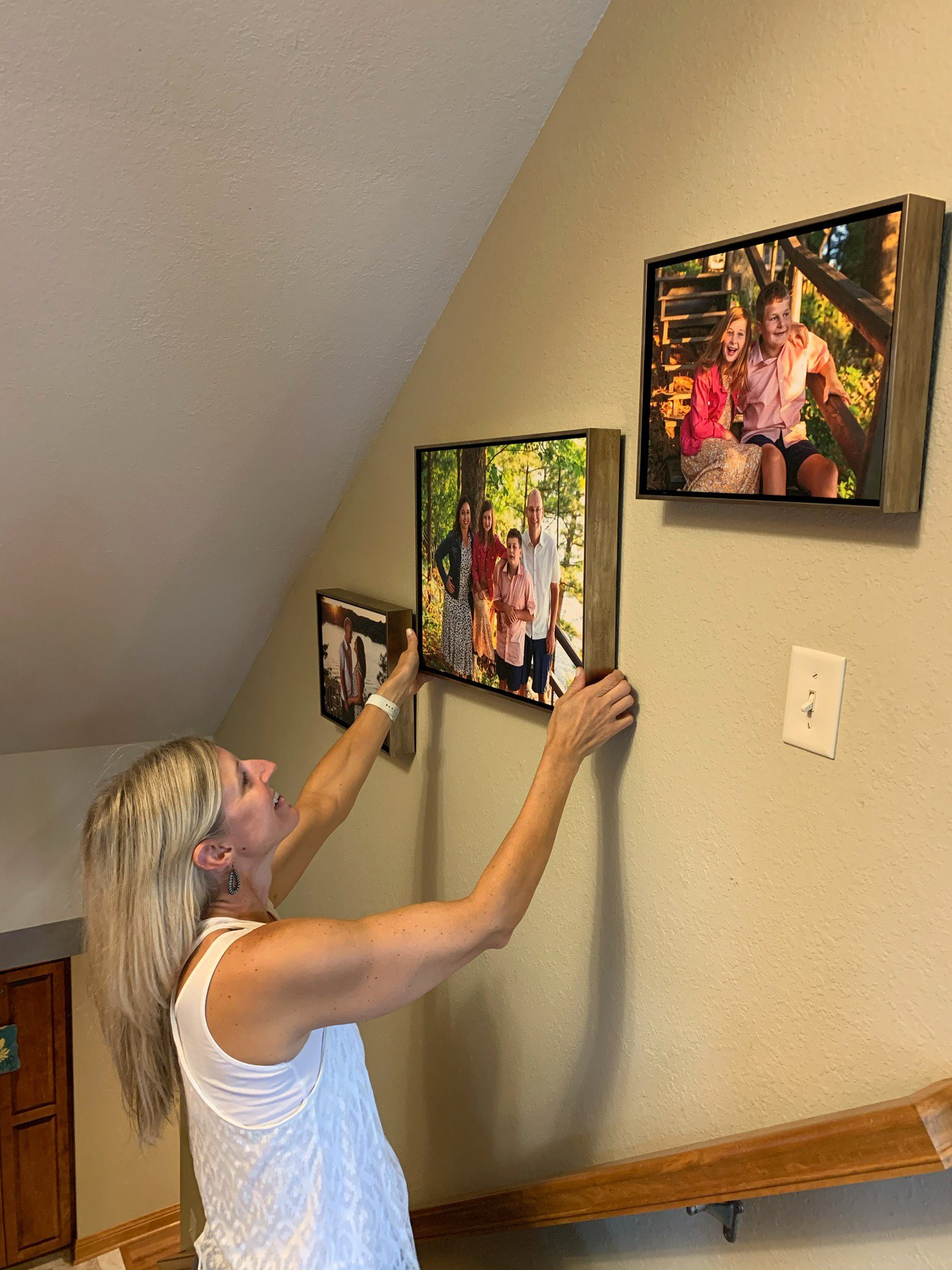 Julie Collins Photography hanging a gallery wall